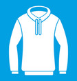 hoody icon white vector image vector image