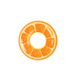inflatable swimming ring or toy with citrus vector image