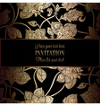 Intricate background with antique luxury black and vector image