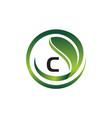leaf initial c logo design template vector image vector image