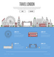 london city travel vacation guide vector image vector image