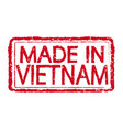 made in vietnam stamp text vector image