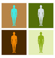 male human body silhouette with shadow vector image vector image