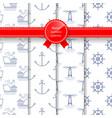 marine summer seamless pattern vector image