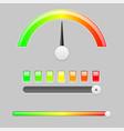 measuring semi scale industrial indicator vector image