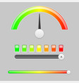 measuring semi scale industrial indicator with vector image