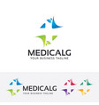 medical logo design vector image vector image