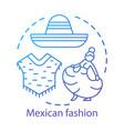 mexican fashion concept icon south american vector image