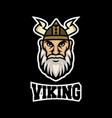 modern mascot viking logo vector image vector image