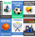Modern Sport Posters Set vector image vector image