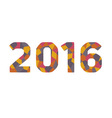 mosaic new year numbers vector image vector image