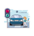 people in the street with a void distractions vector image vector image