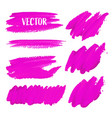 pink brush stroke isolated on white background vector image vector image