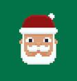 pixel art santa vector image