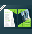 professional business brochure background template vector image vector image