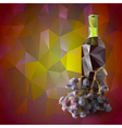 red wine background vector image vector image