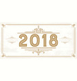 retro 2018 numbers new year logo vector image vector image