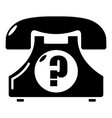 retro phone icon simple black style vector image vector image