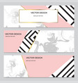 set modern design banners with marble vector image