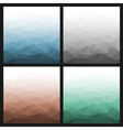 Set of Abstract Gradient Geometric Backgrounds vector image vector image