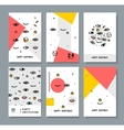 set of cards for the holiday vector image vector image