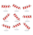 Set of Direction Arrow Icons Isolated on White vector image