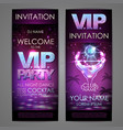 set of disco background banners vip cocktail vector image vector image