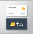 shop cloud abstract modern logo and vector image