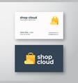 shop cloud abstract modern logo vector image