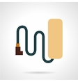 Simple style bike battery flat icon vector image vector image