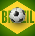 Soccer ball of Brazil 2014 vector image