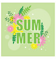 summer banner with floral decor vector image vector image