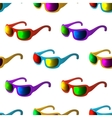Sunglasses seamless background vector image