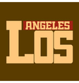 T shirt Los Angeles California beige vector image vector image