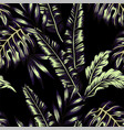 tropical plants trendy seamless background vector image