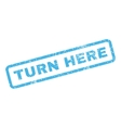 Turn Here Rubber Stamp vector image vector image