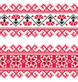 Ukrainian Slavic red and grey traditional pattern vector image vector image