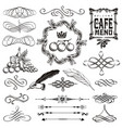vintage decorative ornament borders and page vector image