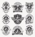 vintage monochrome police labels set vector image vector image