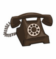 vintage telephone with rotary system and numbers vector image