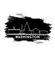 washington dc city skyline silhouette hand drawn vector image vector image