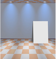 White room with ad board vector image