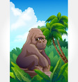 Wild animal set 16 of 32 - gorilla vector | Price: 1 Credit (USD $1)