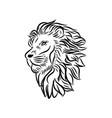 wild lion icon logo template vector image