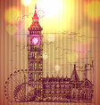 World famous landmark series Big Ben London vector image