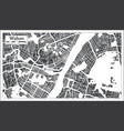 wuhan china city map in retro style outline map vector image vector image