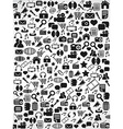 black Seamless web icons pattern background vector image