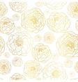 Golden On White Peony Flowers Summer vector image