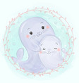 adorable sea lion vector image