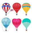 air balloons airing transport in sky hot vector image vector image